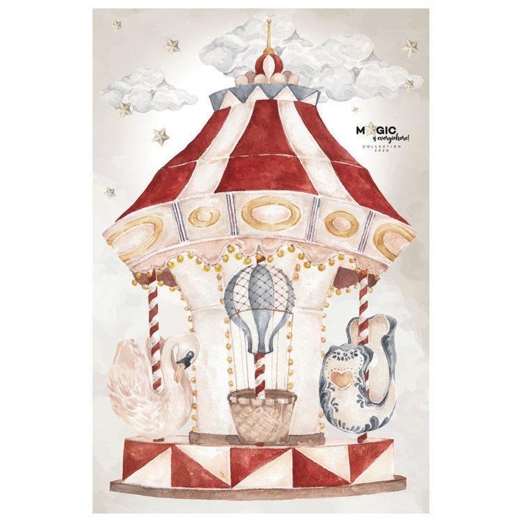 Dekornik, väggklistermärke karusell