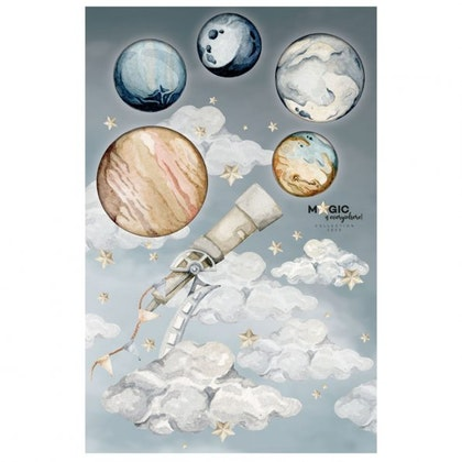 Dekornik, väggklistermärke de magiska planeterna