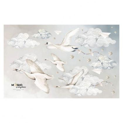 Dekornik, väggklistermärke svanar