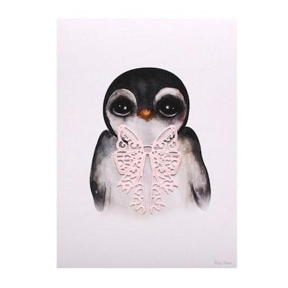 Dessin Design, poster Penguin Pink A4