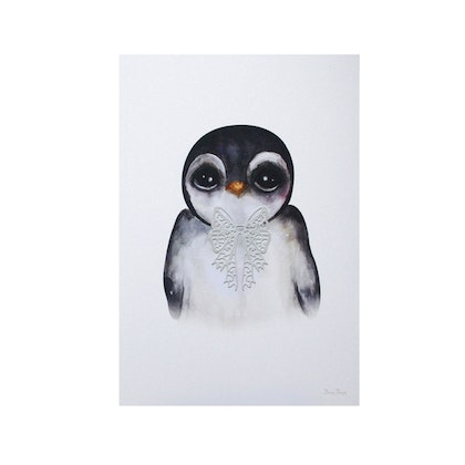 Dessin Design, poster Penguin Grey A4