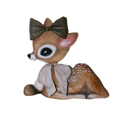 Dessin Design, vimpel DIY - lying bambi