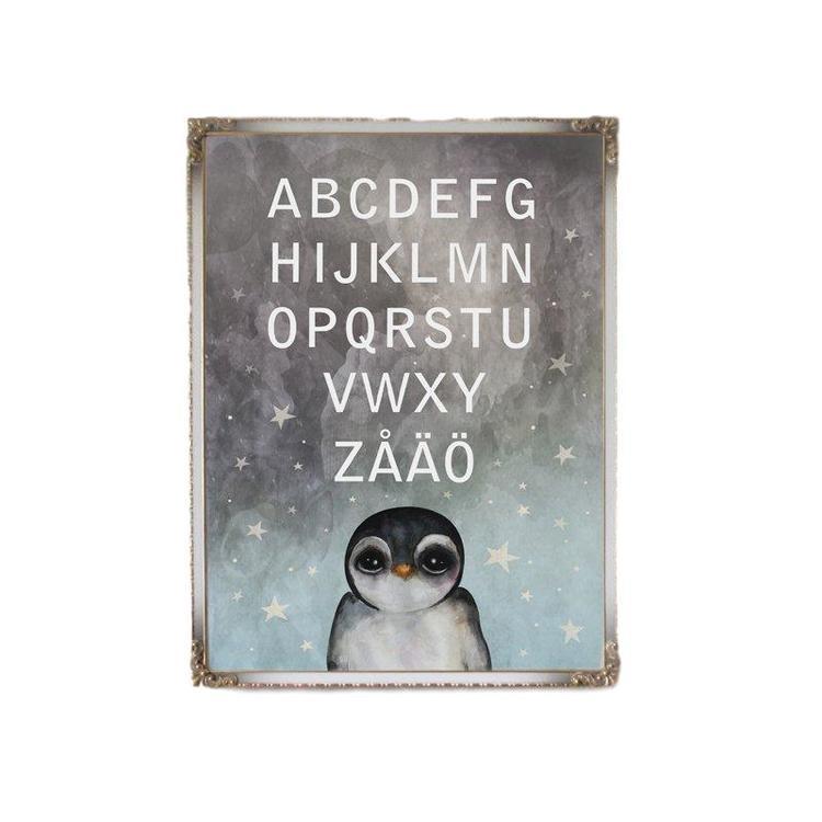 Dessin Design, poster ABC penguin A4