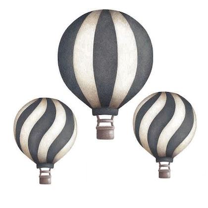 Mörkblå Luftballonger vintage väggklistermärken, Stickstay