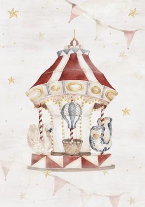Poster magisk karusell , poster till barnrummet