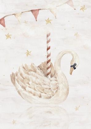 Poster magisk svan, poster till barnrummet