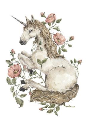 Poster magisk enhörning, poster till barnrummet