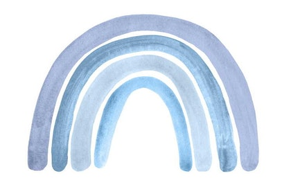 Babylove, blue rainbow, regnbåge väggklistermärke