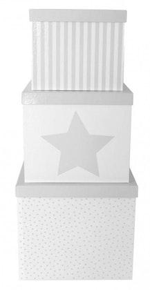Jabadabado, Förvaringsbox grå 3-pack