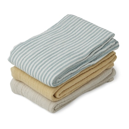 Liewood, Line snuttefilt 3-pack, sea blue stripe