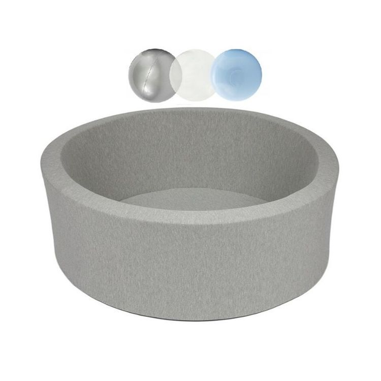 Misioo, ljusgrå bollhav smart, 150 bollar  (silver/light blue/transparent)