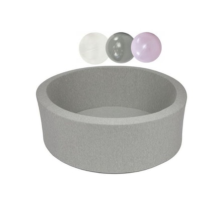 Misioo, ljusgrå bollhav smart, 150 bollar  (grey/light pink pearl/white)