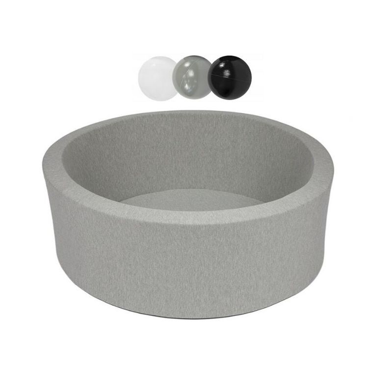 Misioo, ljusgrå bollhav smart, 150 bollar  (grey/black/white)