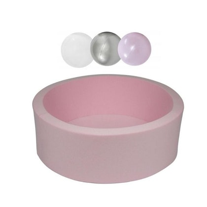 Misioo, rosa bollhav smart, 150 bollar  (silver/light pink pearl/white)