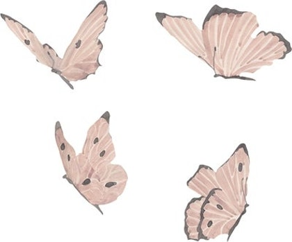 That`s Mine, Dusty Rose Butterflies, väggklistermärken