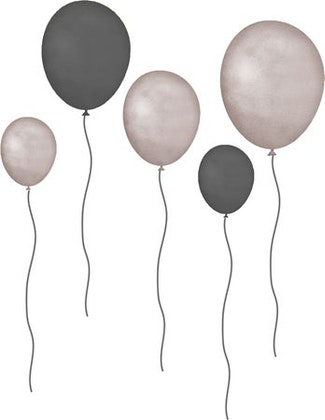 That`s Mine väggklistermärken ballonger 5-pack, brown