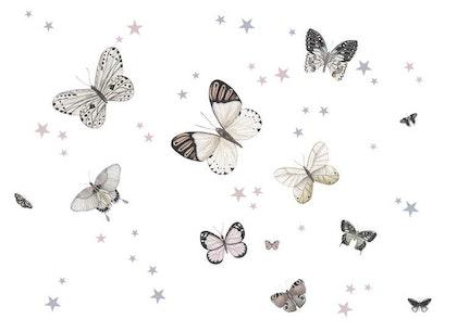Babylove, väggklistermärke fjärilar