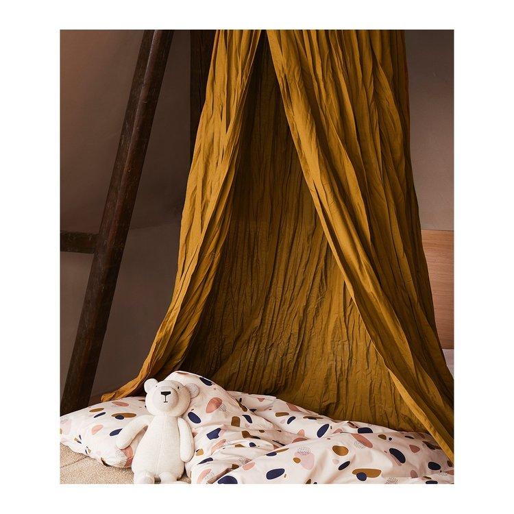Liewood olive green sänghimmel med ljusslinga