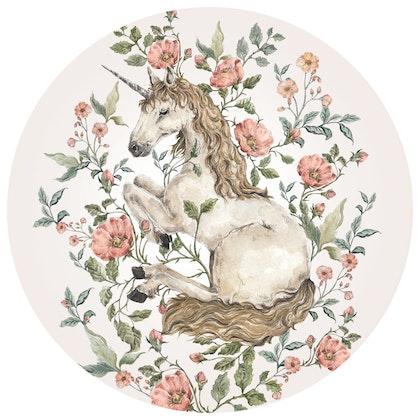 Dekornik ,unicorn in a circle, väggklistermärken till barnrum