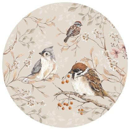 Dekornik ,birds in a circle, väggklistermärken till barnrum