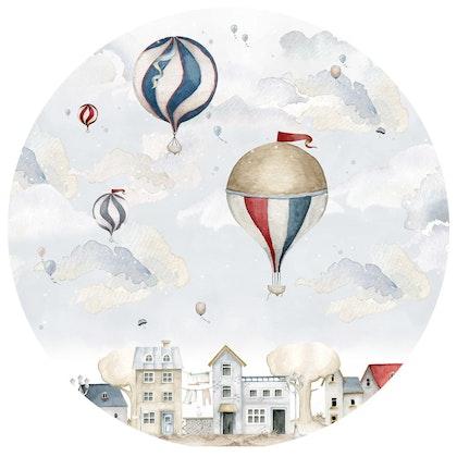 Dekornik ,baloons in a circle, väggklistermärken till barnrum