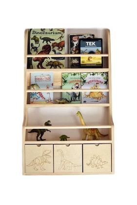 Vägghylla Dino med tre lådor, Cameleon