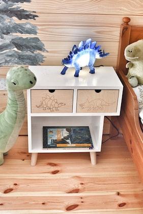 Sängbord till barnrummet - Dino Kameleont