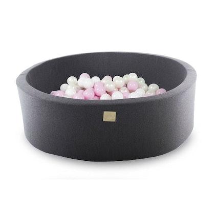 Meow, mörkgrå bollhav med 250 bollar, Pretty Pink
