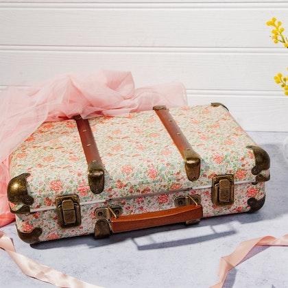 Sass & Belle, koffert metall florar roses