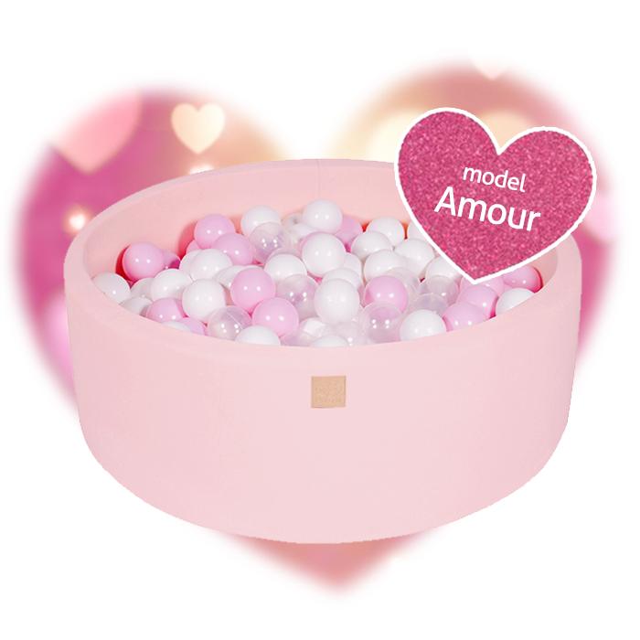 Meow, rosa bollhav med 250 bollar, Amour