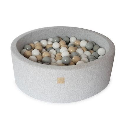 Meow, ljusgrå bollhav med 250 bollar, Safari beige