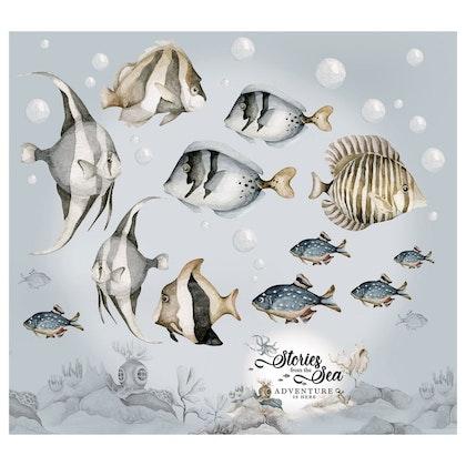 Dekornik, väggklistermärke fish