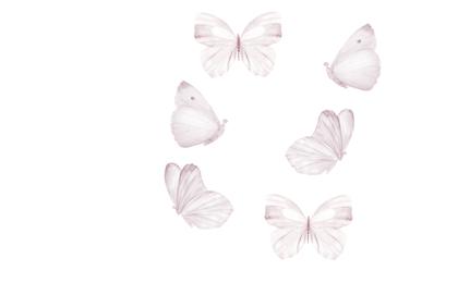 That`s Mine, White Butterflies, väggklistermärken