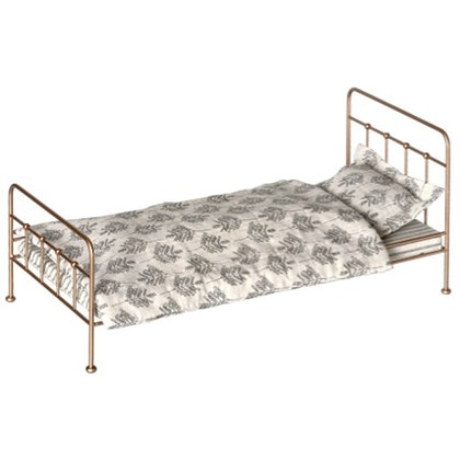 Maileg, vintage säng , medium gold