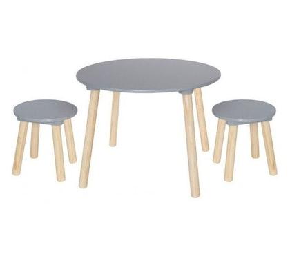 Jabadabado, Grå möbelset bord med två pallar