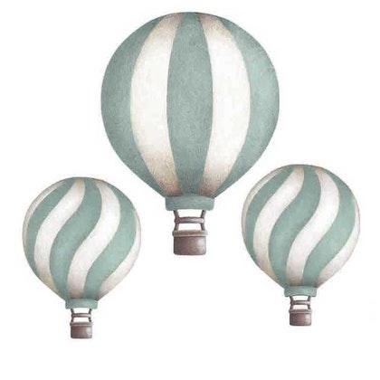 Mint Luftballonger vintage väggklistermärken, Stickstay
