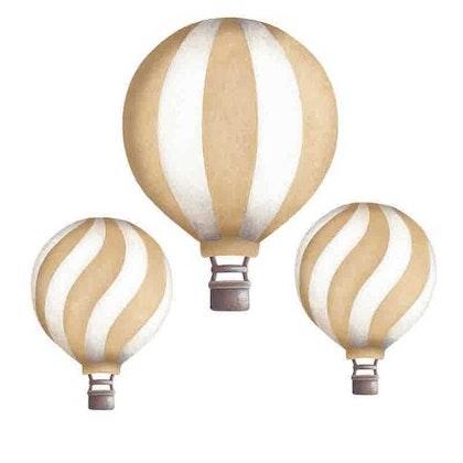 Dusty gold luftballonger vintage väggklistermärken, Stickstay