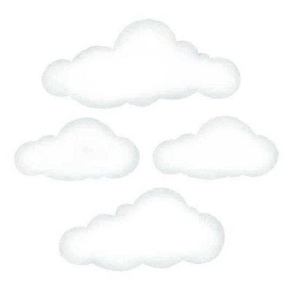 Stora vita moln väggklistermärken, Stickstay