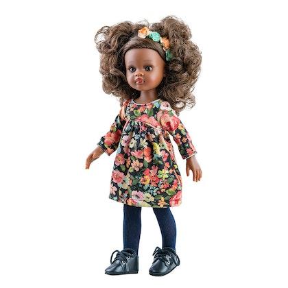 Docka Nora i en blommig klänning , Paola Reina