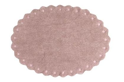 Lorena Canals rund rosa matta till barnrummet,  Picone Nude