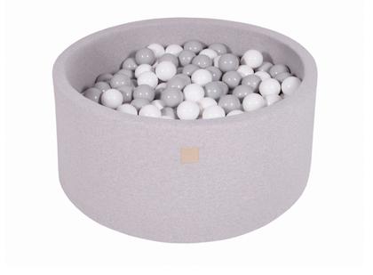 Meow, ljusgrå bollhav 90x40 med 300 bollar (grey, white)