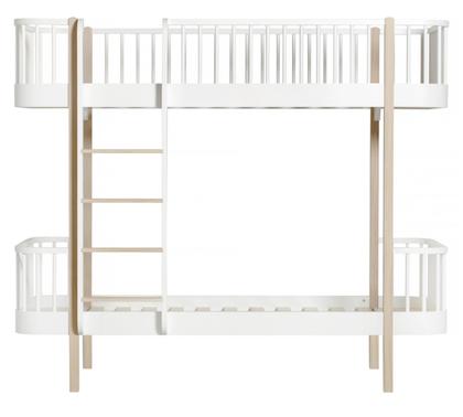 Oliver Furniture, våningsäng vit/ek 90x200