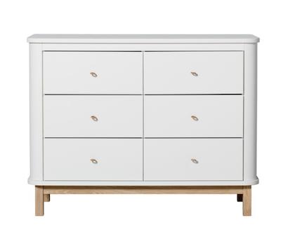 Oliver Furniture, Byrå vit/ek