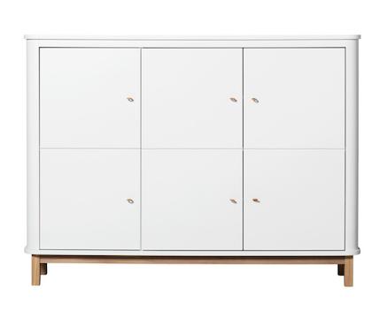 Oliver Furniture, skåp vit/ek