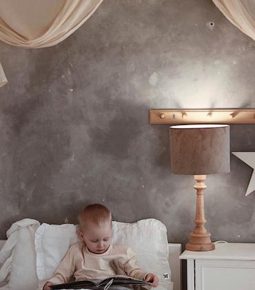 Bordslampa till barnrummet ,brun sammet