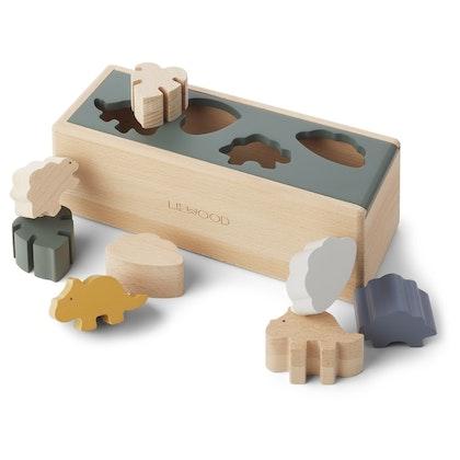 Liewood, sorteringslåda, midas puzzle box dino mix
