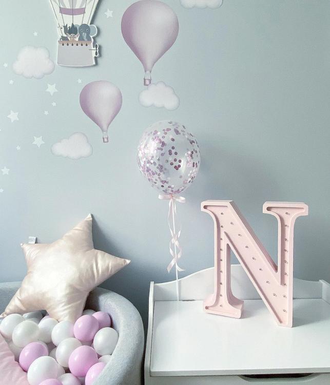 Nattlampa till barnrummet bokstav N, Little Lights