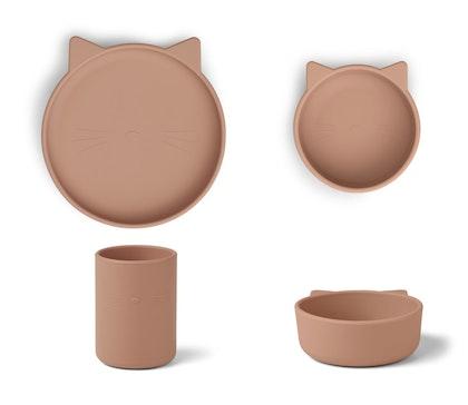 Liewood, Cyrus silikon matset 3 delar, cat dark rose