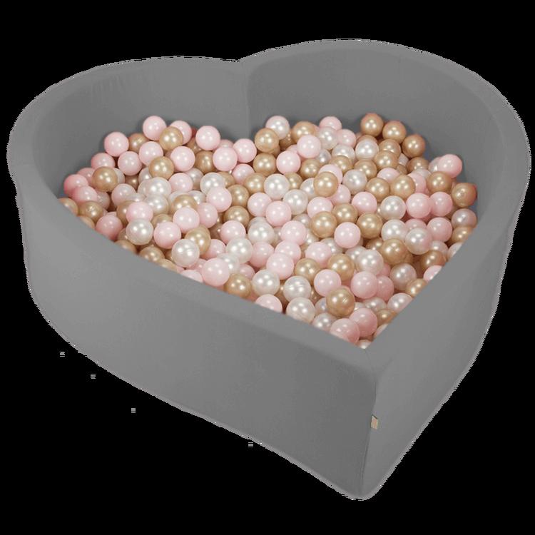 Misioo, stort bollhav hjärta med 200 bollar