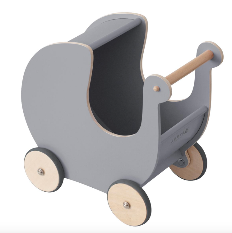 Sebra Dockvagn grå